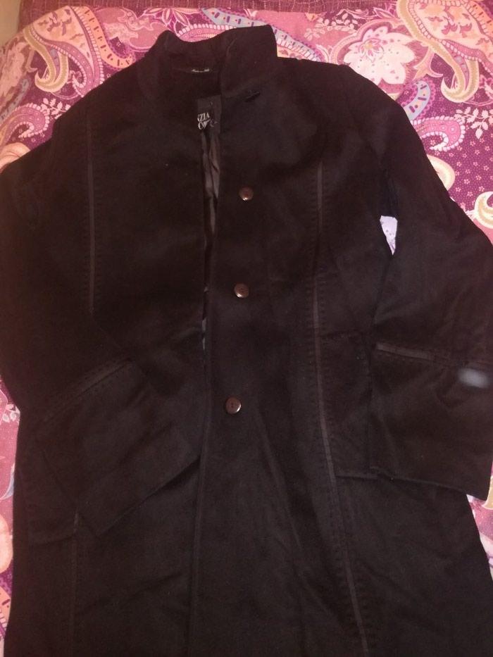 Деми пальтос кожаными ставками