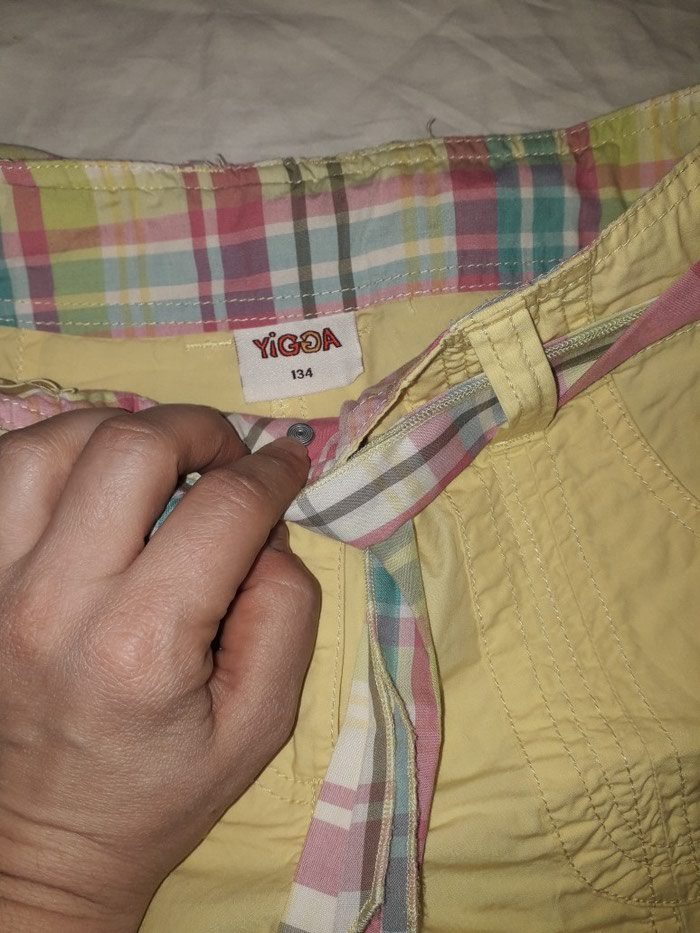 Pantalonice za devojcicu, vel 134, zute boje, bez ostecenja.. Photo 1