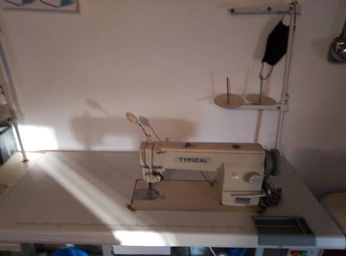 Швейная машина,  примая строчка . Photo 1