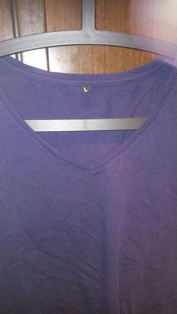 Μπλουζα ασυμετρη large φορεμενη μια φορα. σε μπλε χρωμα. αποστολη με π. Photo 2