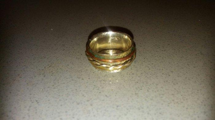 Χειροποιητο. φαρδυ δαχτυλιδι ασημι 925.. Photo 1