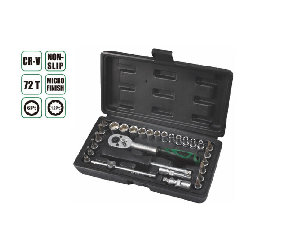 Набор инструментов 29 прс, AE-S29, * 12шт 1/4 бит гнездо: H3,H4, H5, H6, H8, SL4, SL5