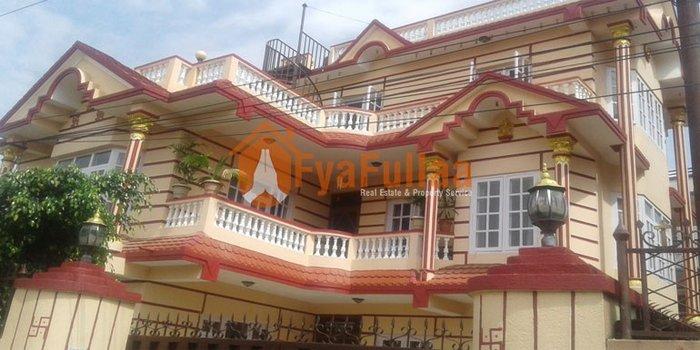 Beautiful house having land area 0-8-0-0 of 2.5 floors, facing south, in Kathmandu