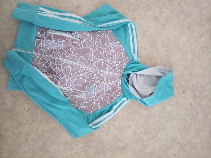 Adidas duks trenerka gornji deo XS/ S veličina tirkizno plava . Photo 0