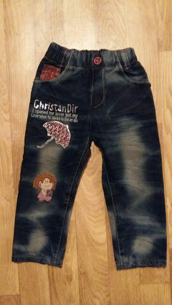 Зимние джинсы теплые детские на 4-5 лет в Бишкек