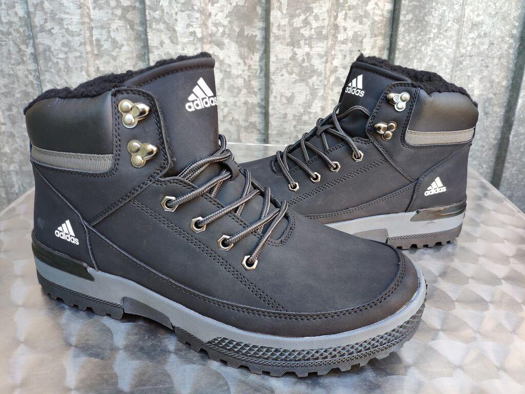 Muške Čizme - Nis: Adidas Crne Cizme Nepromocive! Postavljene Krznom-NOVO-41-46!