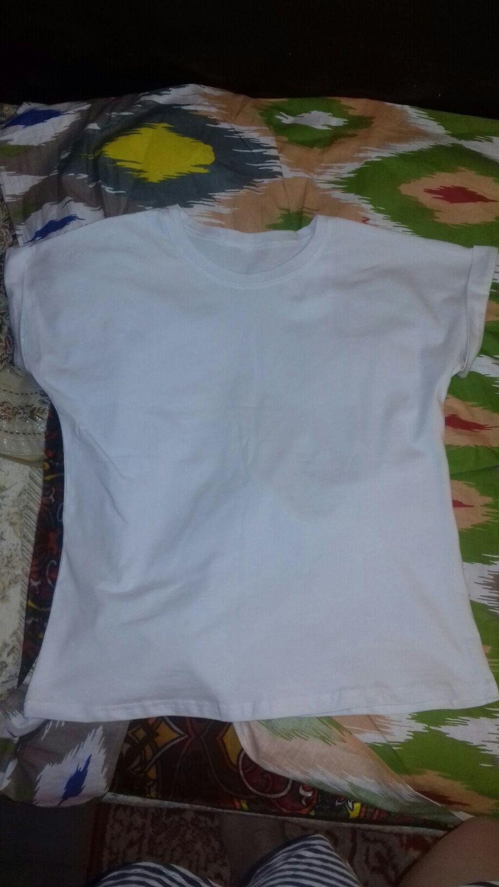 Белая хб футболка М размер