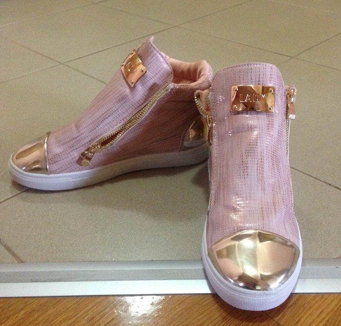 Ženska patike i atletske cipele - Indija: Potpuno nove broj 36 lepo stoje puder roza boja sa zlatnim detaljima Lady shoes,tacan kalup 23,5 cm 1500 din