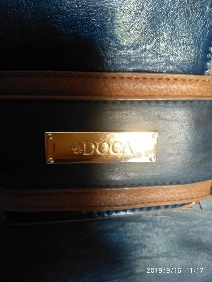 Τσάντα ώμου DOCA σε καλή κατάσταση. Μπλε.. Photo 3