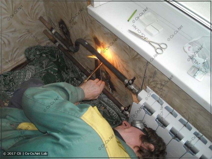 Отопление и батарея установка котлов батареи и замена квартирах и в ча в Бишкек
