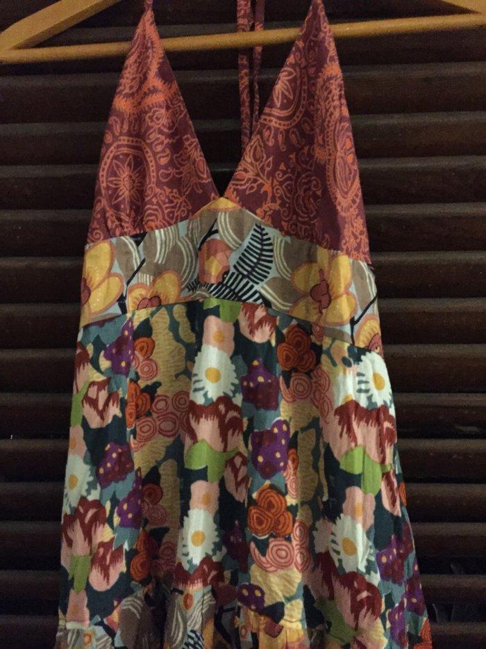 Φόρεμα boho βαμβακερό .Εξώπλατο με φαρύα φούστα . Αφόρετο . Νο Small Τ. Photo 2