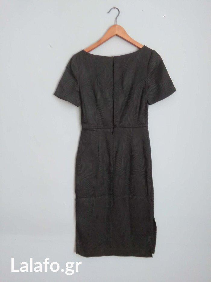 H&M καινουριο μαυρο textured φορεμα