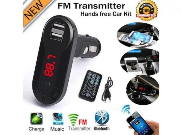 Fm transmiter bluetooth mp3 plejer+punjač bluetooth handsfree + fm tra - Beograd