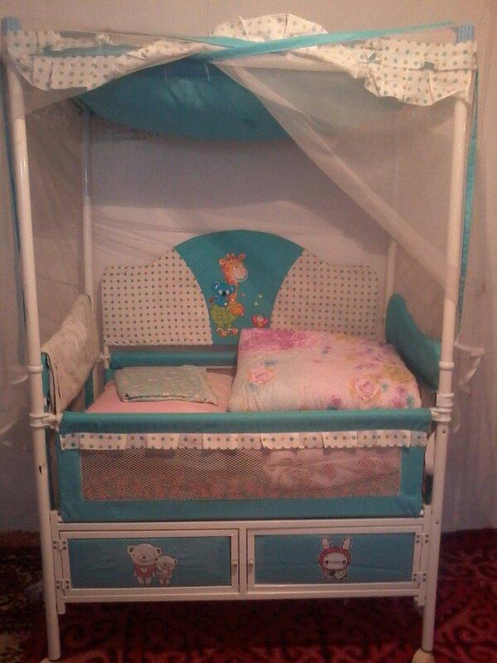 продаю детскую кроватку до 7 лет. вместе с люлькой. в отл. состоянии. в Бишкек