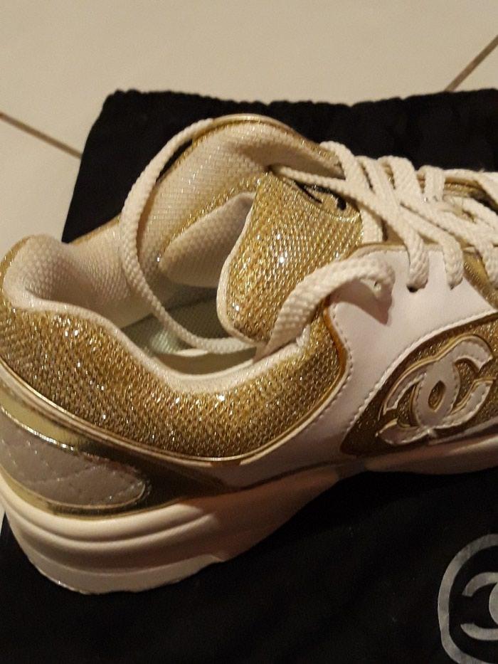Παπούτσια αθλητικά τύπου Chanel, άριστη κατάσταση, νούμερο 37. Photo 0