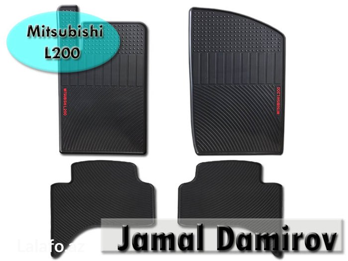 Bakı şəhərində Mitsubishi L200 üçün rezin ayaqaltilar. Коврики для Mitsubishi