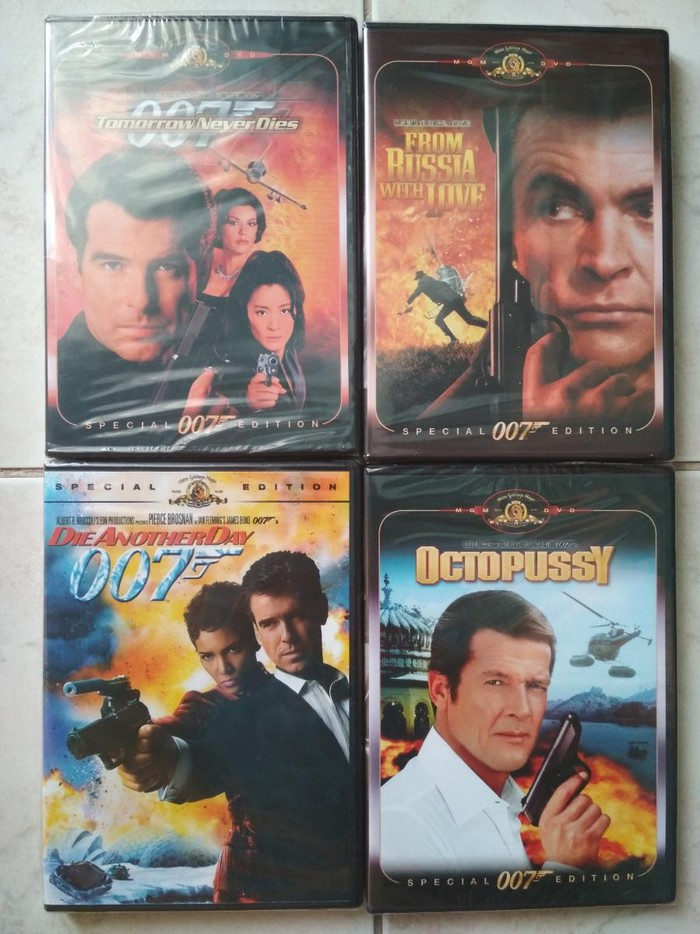 4 DVD συναρπαστικων ταινιων του James Bond Αποστολη σε ολη την Ελλαδα σε Περιφερειακή ενότητα Θεσσαλονίκης