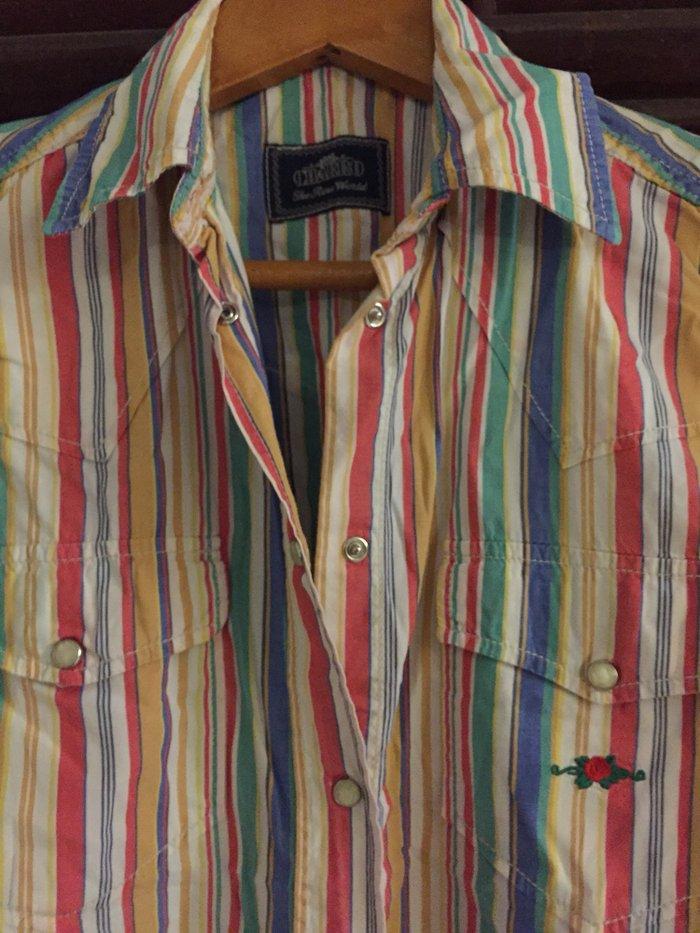 Αμάνικο ριγέ πουλάμισο Charro No Small . Εξαιρετική κατάσταση , φορεμέ. Photo 0