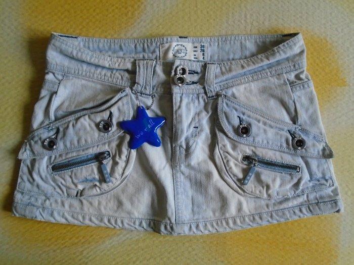 Mini, suknjica od teksasa, (100% pamuk), bershka, veličine 36. Nošena - Beograd