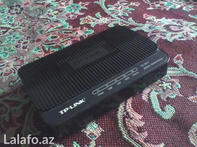 ADSL Modemler WIFI-siz tp-link td-8817 d-link  2520u ztef    831 в Баку