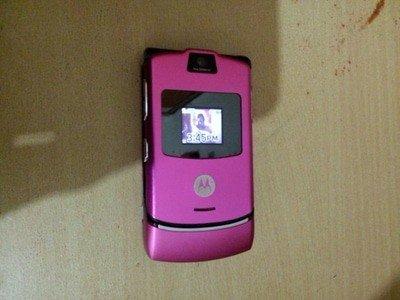 Motorola v3 - pink