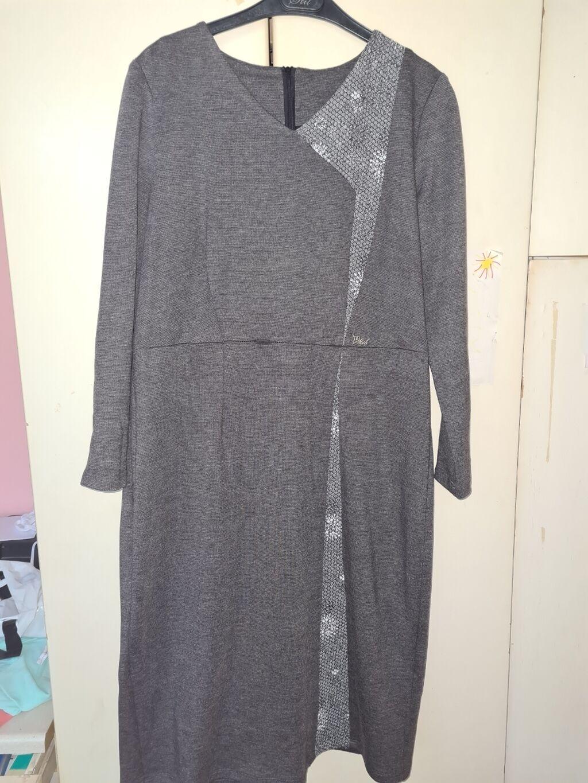 Siva haljina, broj 48. Samo jednom obucena: Siva haljina, broj 48. Samo jednom obucena