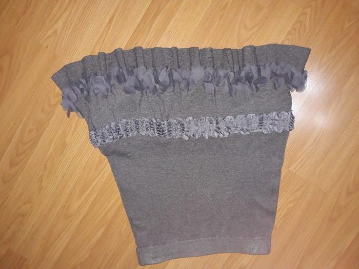 Trikotazna,interesantna suknja....struk 36 cm,duz.54 cm. - Smederevo
