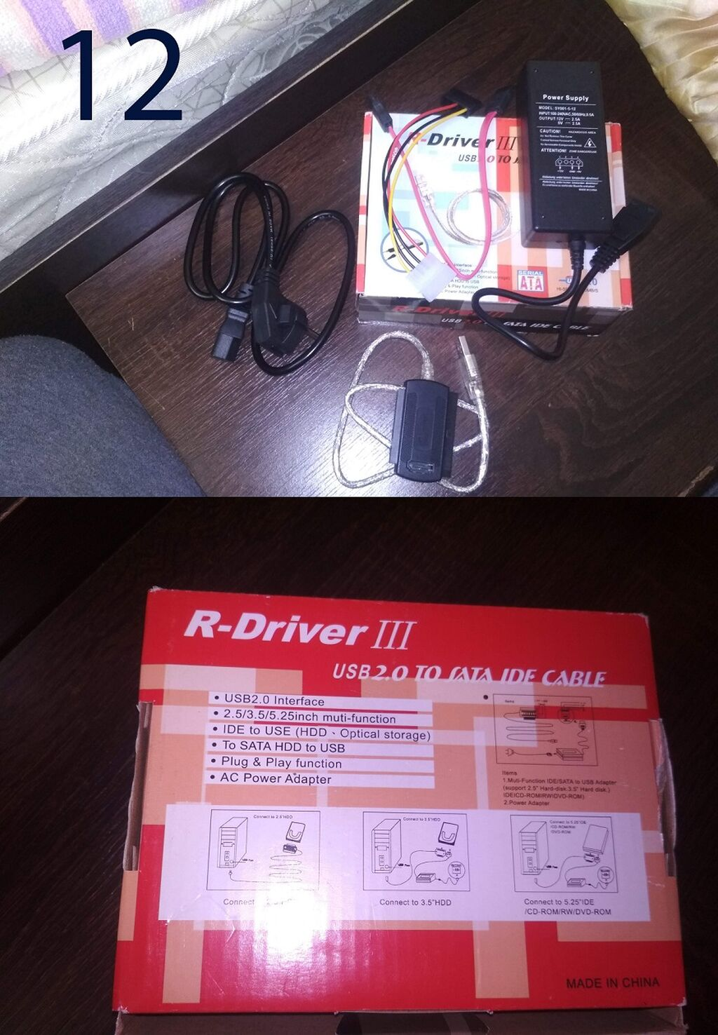 R-Driver III USB 2.0 to SATA IDE Cable