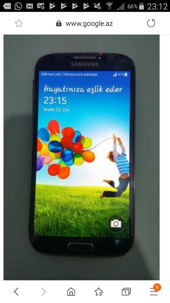 İşlənmiş Samsung Galaxy S4 16 GB qara. Photo 1