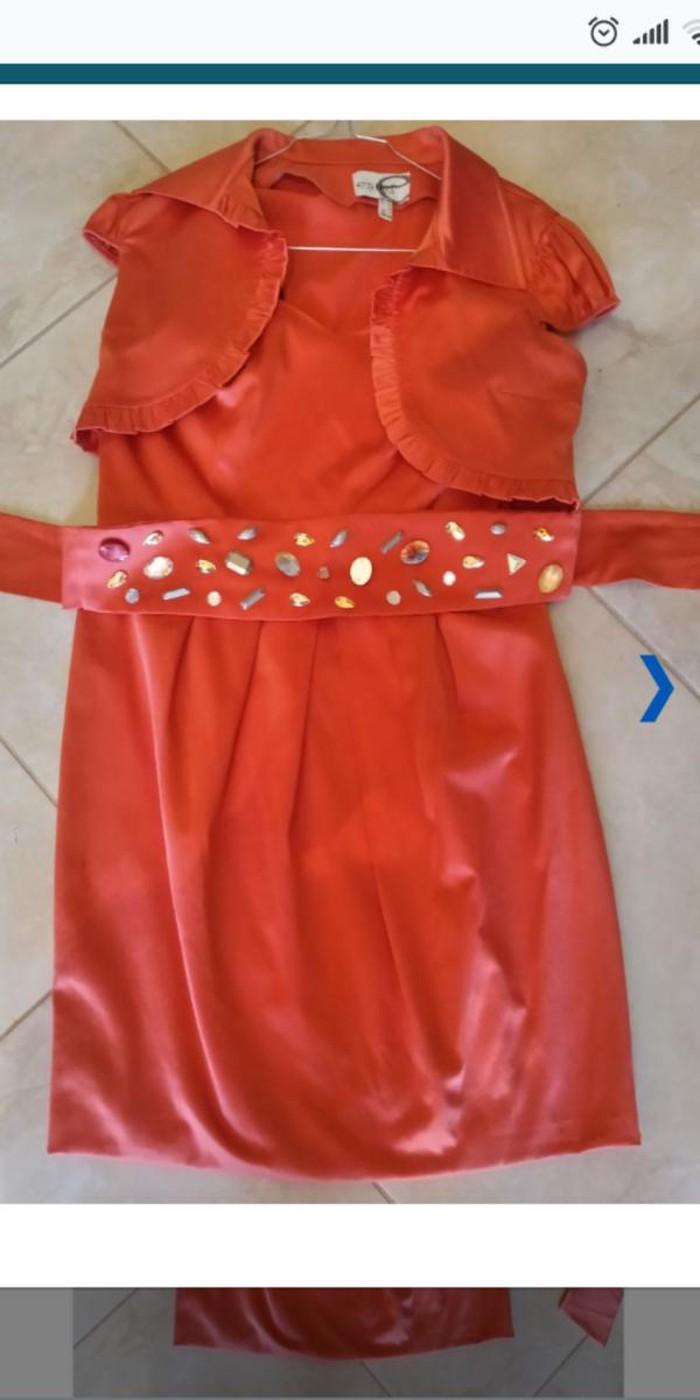 Estel κοραλί φορεμα no 44. Photo 1