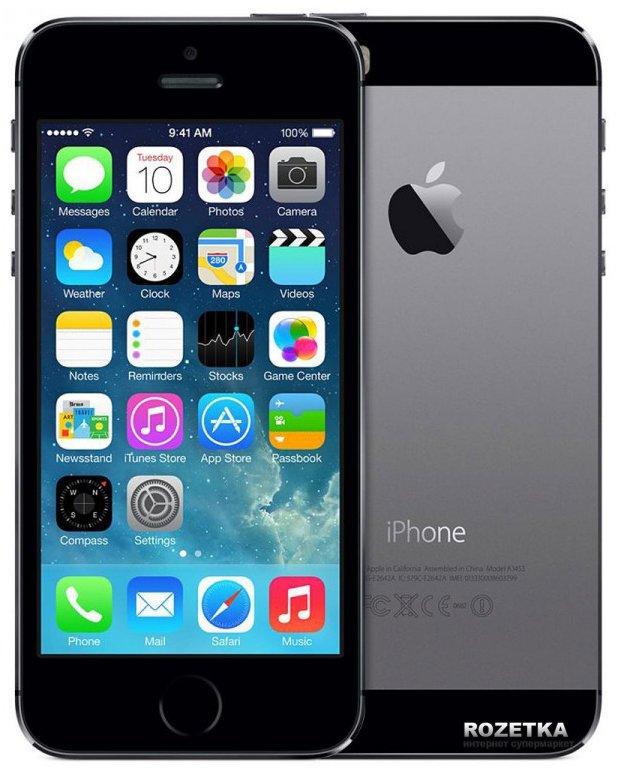 Apple iphone 5s 16gb space gray дисплей не родной. состояние на 4. в в Бишкек