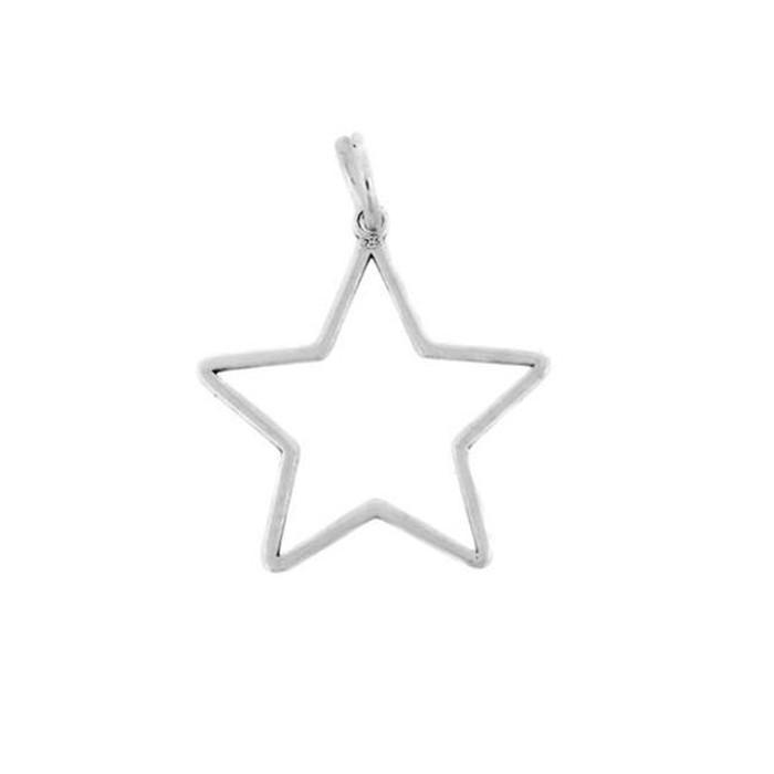 Κρεμαστό ''Αστέρι'' από ασήμι 925° (0,5x14mm)  Κωδικός: .200
