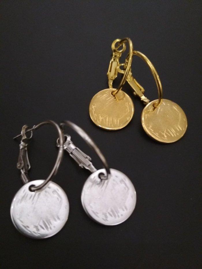 Χειροποίητα χρυσά ασημί σκουλαρίκια (δικής μου κατασκευής) for 6 EUR ... 33cd2ef600a