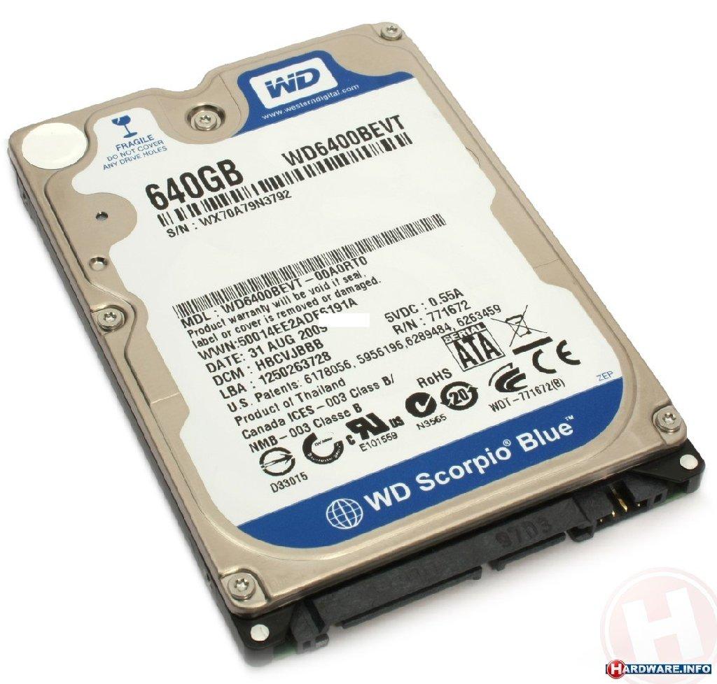 NOUTBOOK ucun HARD DISC (sert disk), yenidi, 640gb yaddasa malikdir, tam olaraq original ve holloqramli
