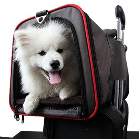 2-side Expandable Pet Carrier Breathable Handbag Carrier Comfortable Travel Bags for Cat Dog Puppy