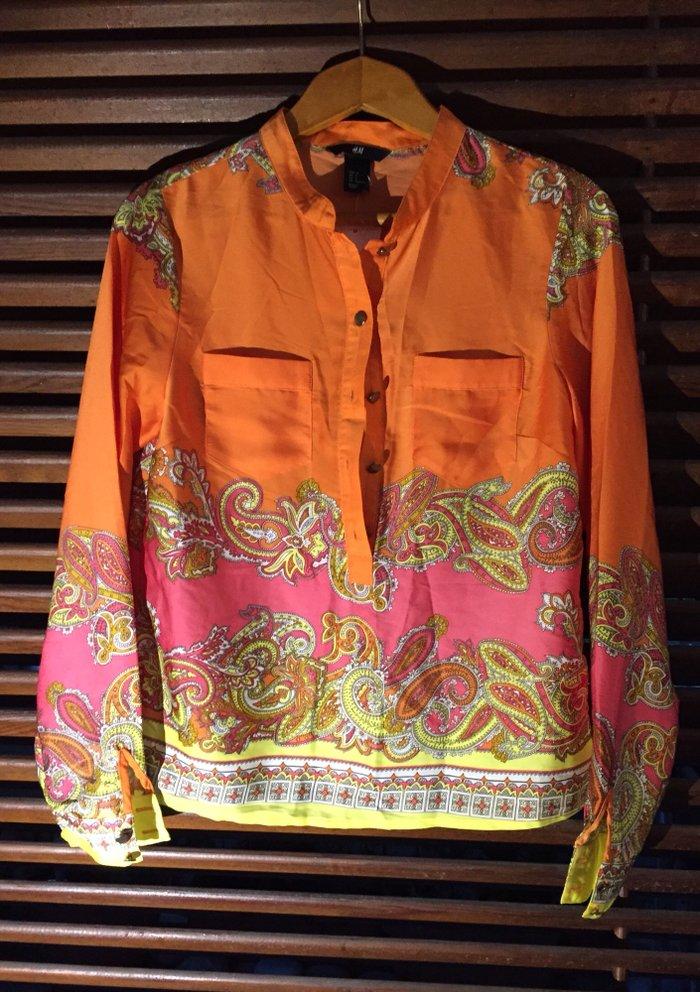 Γυναικείο πουκάμισο εμπριμέ τύπου Hermes , H&M limited edition
