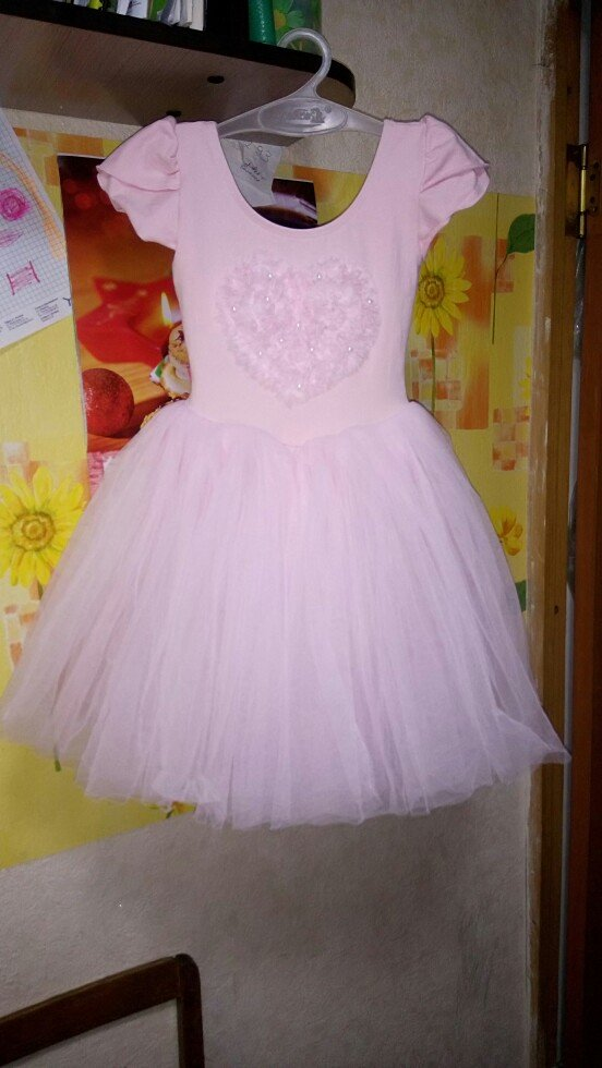 Платье для танцев, длина комбидреса 43см, б/у. ткань х/б. в Бишкек