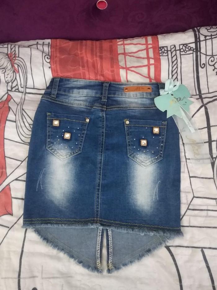 Детская джинсовая очень стильная юбочка,обсолютно новая.. Photo 0