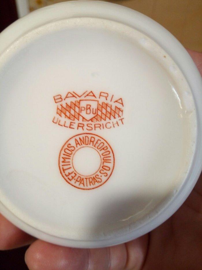 Παλιο σετ απο 6 φλυτζανια του καφε ή τσαγιου αχρησιμοποιητα λευκα με χ. Photo 2