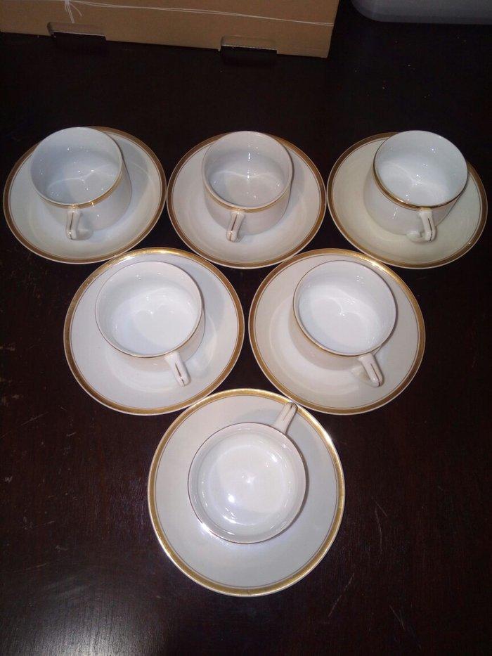 Παλιο σετ απο 6 φλυτζανια του καφε ή τσαγιου αχρησιμοποιητα λευκα με χ. Photo 1