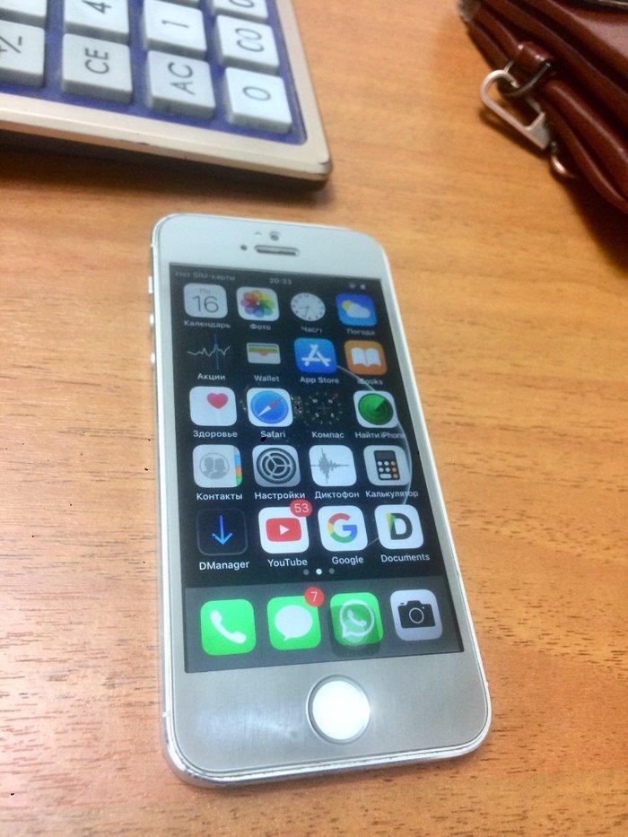 IPhone 5s 32gb silver срочно тай айди работает, айклауд чистыйцена в Бишкек
