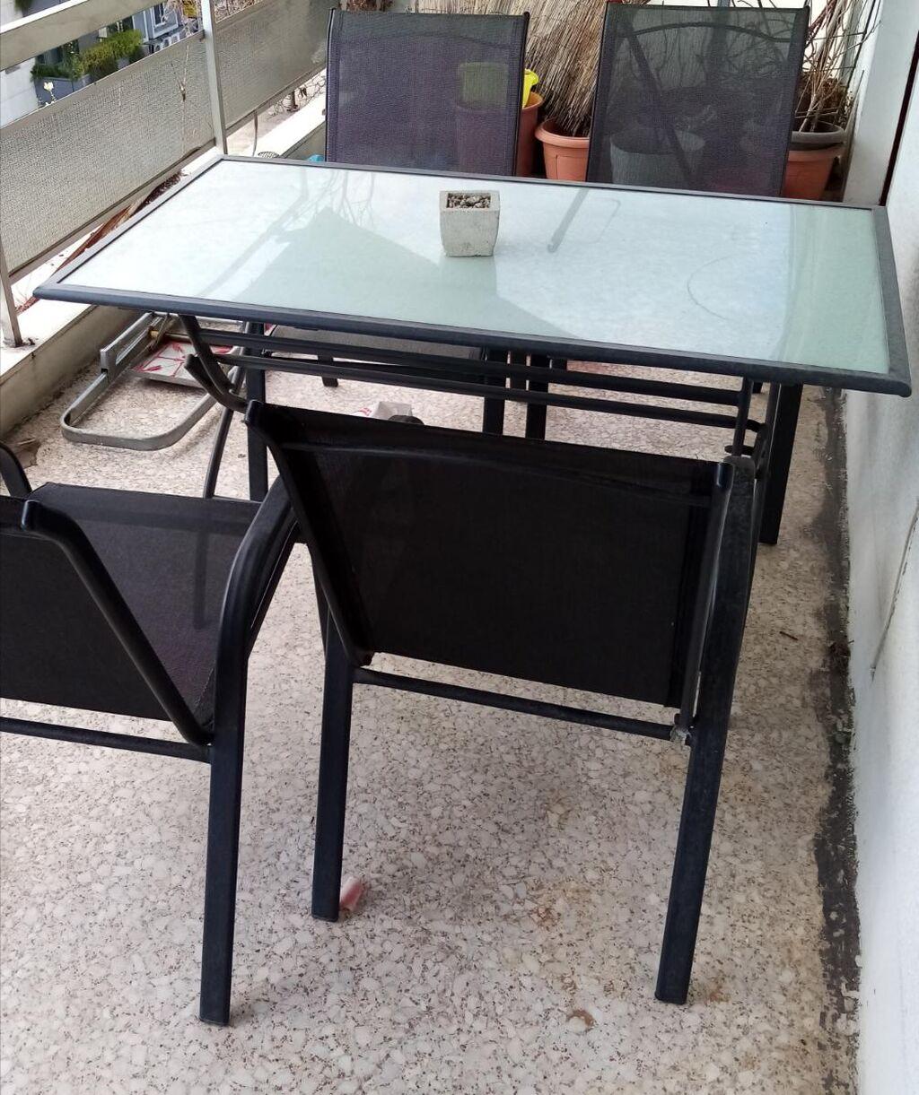 Τραπέζι και καρέκλες για εξωτερικό χώρο όλα μαζί 80 ευρώ