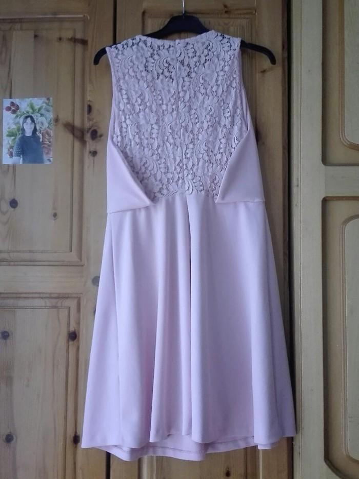 Ροζ απαλό φόρεμα για βαφτίσια και γάμους νούμερο Μ/L. Photo 2