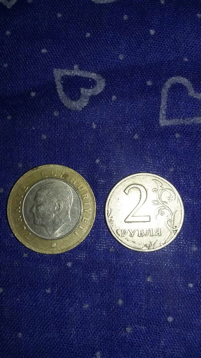 Bakı şəhərində Для коллекций 1 турецкая лира 2016 года и 2 рубля 1998 года ММД