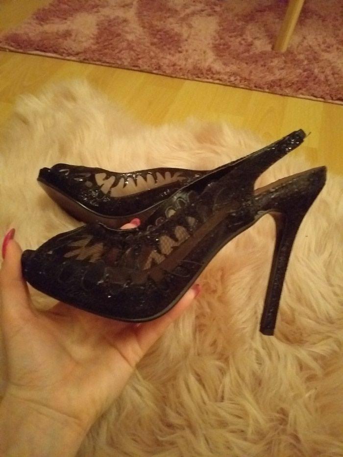 Nove crne sandale nikada nosene 37br. Photo 1