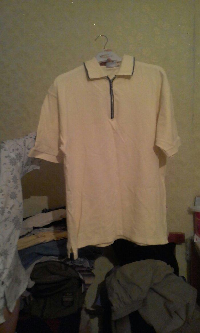 7e8fc8fdaf0eb7f футболка желтая 52-разм. 150сом. варотник на замочке за 150 KGS в ...