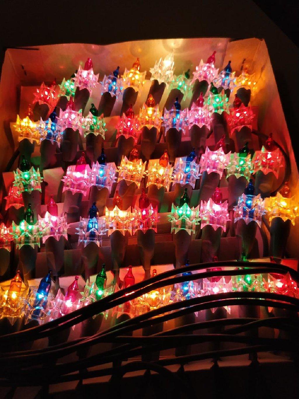 50 Christmas Diamond Lights Set 70's Vintage