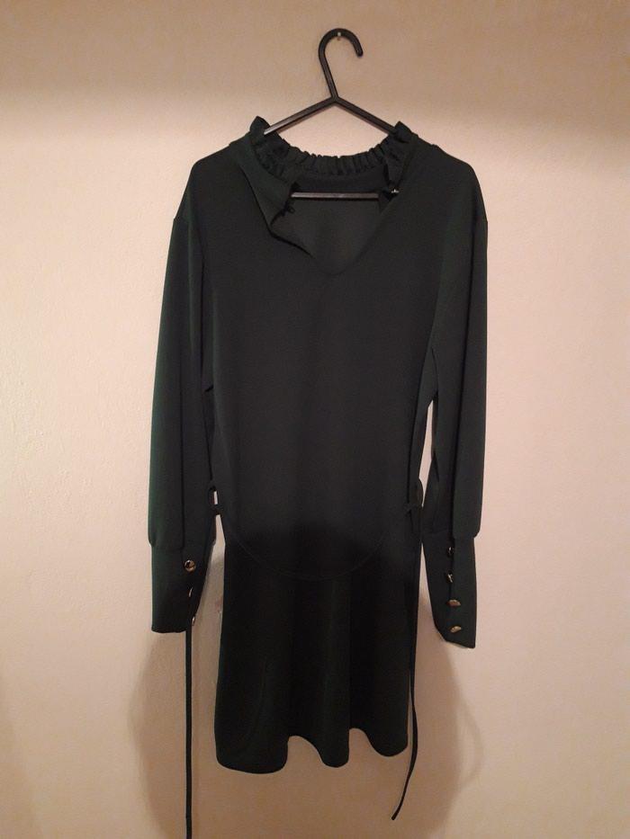 Φόρεμα σκούρο πράσινο S αφορετο. Photo 1
