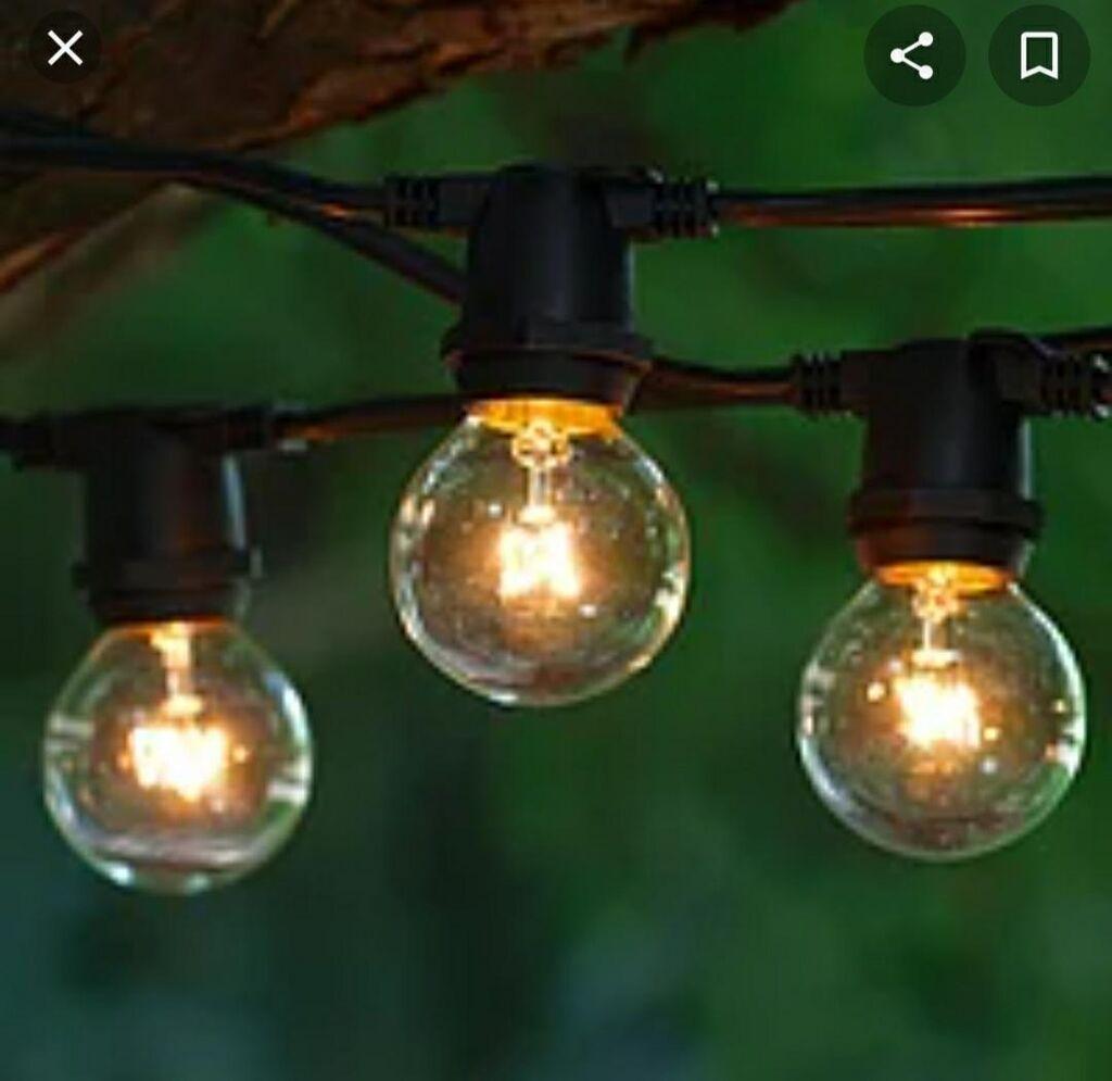 Уличные грилянды на лампах лампы отдельно продаются