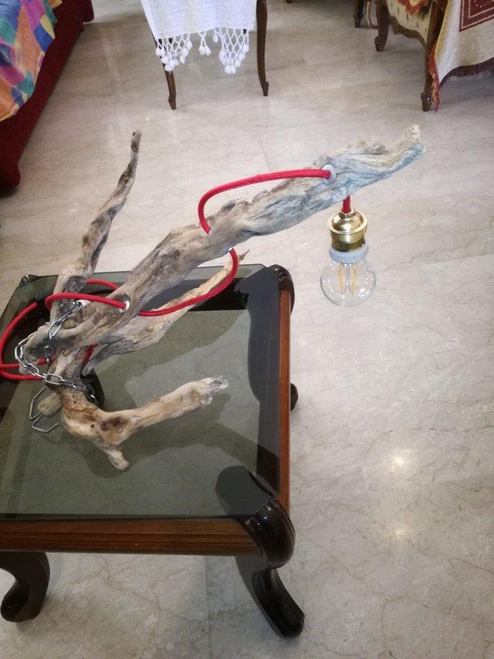 Χειροποίητο επιτραπέζιο φωτιστικό..με. Photo 3